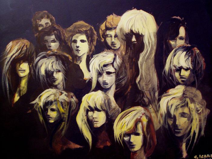 Negozio di parrucche - Acrilico 70x50 (2003)