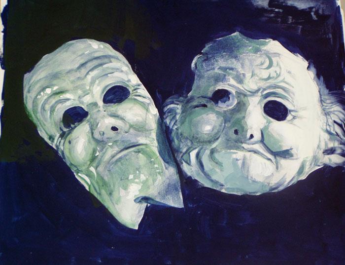 Tragedia greca - Acrilico 42x37 (2003)
