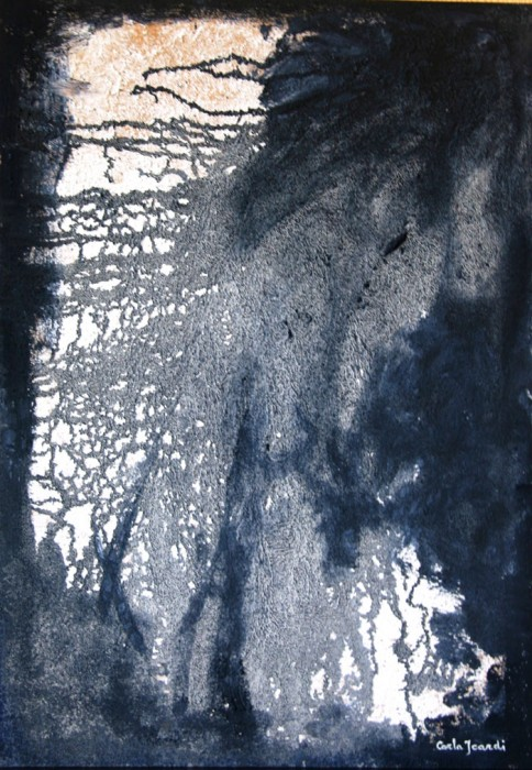 Trasparenze - Acrilico e sabbia 70x50 (2014)