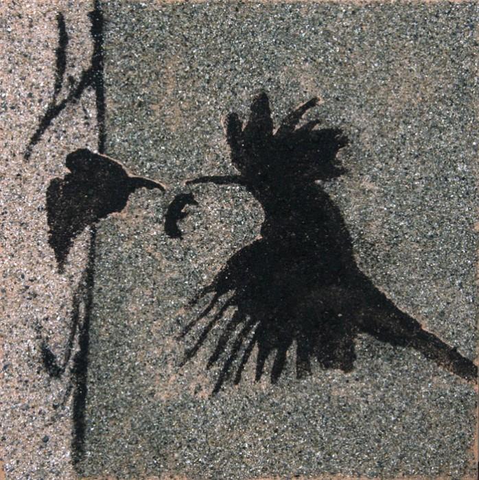 Upupa - Acrilico e sabbia 30x30 (2014)