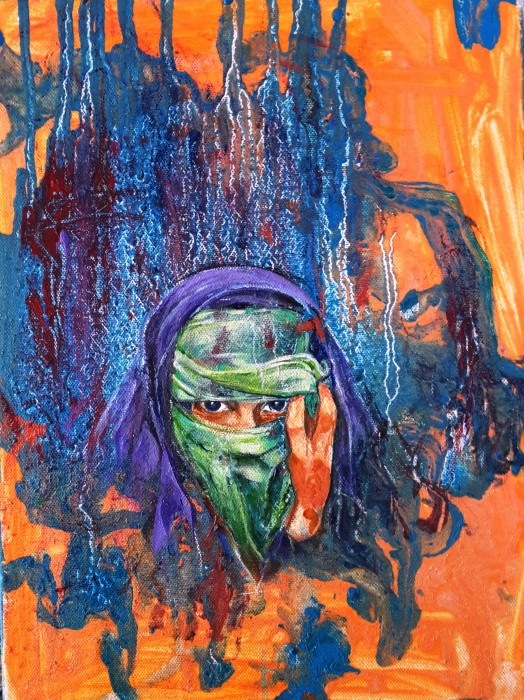 Donna velata - olio su tela 60x40 (2017)