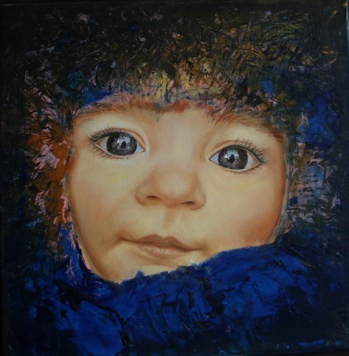 Ritratto 3 - olio su tela 50x50 (2017)